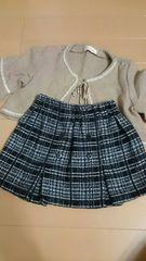 姉妹お揃いスカート 80cm(姉140cm)