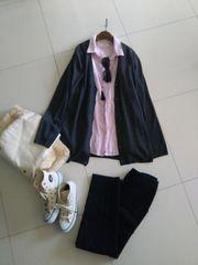 UNIQLO■新品ゆったりサイズカーデ&シャツの春コーデ2点セット
