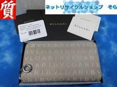 質屋☆本物 ブルガリ 長財布 ラウンド ロゴマニア B-ZERO ベージュ 良品