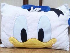 ディズニー/ドナルドダックマイクロフェイス枕(35�p×50�p)カバー洗濯OK!