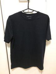 無地Tシャツ ブラック クルーネック 美品