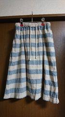ichi☆コットンリネンボーダースカート