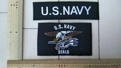 NO.113 アイロンワッペン ミリタリー U.S.NAVY ARMY