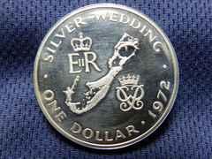 プルーフ銀貨 1クラウン1972年発行