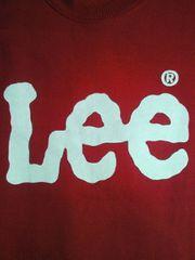 Lee リー ロゴ スエット トレーナー レッド Lサイズ シンプル U.S.A. 裏起毛