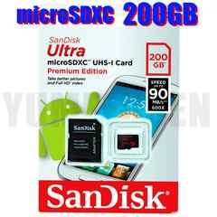 即決新品 爆速90MB/s SANDISK microSDXC 200GB マイクロSD Class10