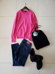 GAP/冬の差し色!綺麗ピンクのコットン混合ニット