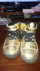 *ベビードールのゴールドの靴*サイズ・19センチ*
