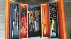 工具箱に中古工具