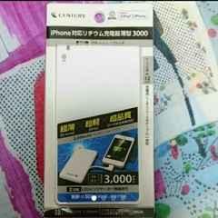 新品未開封 iPhone iPad対応リチウム充電器薄型3000century