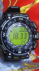 カシオプロトレックPRG-240トリプルセンサータフソーラー腕時計2層液晶