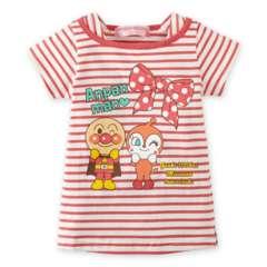 *ANPANMAN*アンパンマンボーダーボートネックTシャツ*ピンク*90�a*新品*