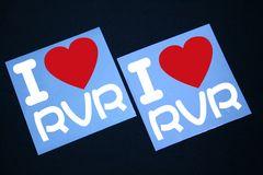 I LOVE ステッカー2枚組み 各色有り RVR