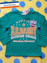 新品【DaddyOhDaddy丸高衣料】100cmアメカジロゴロングTシャツ¥3045