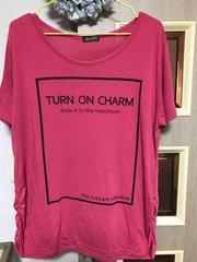 中古 ピンクのティーシャツ 大きいサイズ