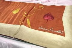 イタリー製 シルク100% 透かし模様入りスカーフ 未使用★dot