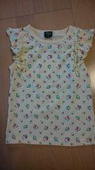 夏服/袖無し薄黄色花柄Tシャツ♪サイズ130�p♪