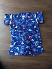 男の子95甚平 夏祭り 部屋着やパジャマにも