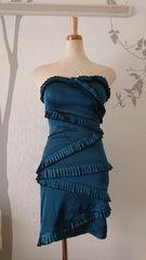 S ミニドレス Jewels モスグリーン フリル サテン 新品 J1717