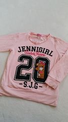 JENNI ジェニィ 130cm ピンク ロンT