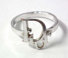 正規ディオールリングシルバーロゴ11.5号Dior指輪レディースアクセサリー