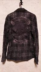 ROENロエン バックスカルボンディングコーティングチェックシャツ 46