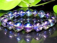アクアオーラブルー高級水晶10ミリ