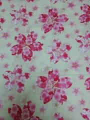 和柄生地約105�p×200�p金彩大桜紋文様 オフ白