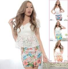 fabulousフラワー キャバドレス 花柄 ageha 夜蝶 衣装 セクシー ギャル