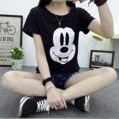新品【7025】XXL(大きいサイズ)黒☆マウスフェイスのTシャツ