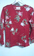 ピンクハウス 長袖Tシャツ バラの花柄