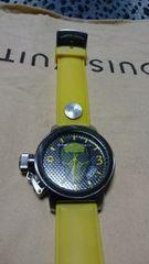 新古品★Christian Audigier BIG Face rubber belt watch