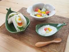 アジアン/ハワイアンキッチン雑貨 ダブルリーフトレイS 3枚set