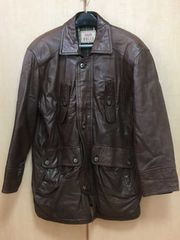 □《DOLCE》レザージャケット 羊革 サイズ48 茶色□