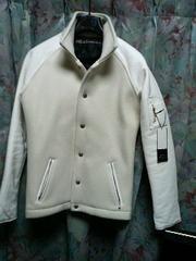 DELAYbyWin&Sonsレザーブルゾンmsgvarsityジャケット1白