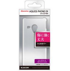 docomo AQUOS PHONE EX SH-02F用シェルカバー クリア