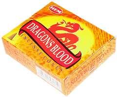 HEM ドラゴンズ ブラッド コーン 7size[お香・インド香]