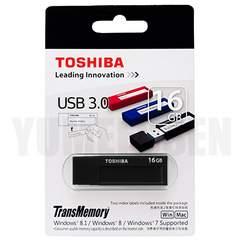 東芝製 USBメモリー 16GB 高速なUSB3.0対応 新品 落ち着いたブラック 黒