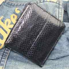 最高級のスネークスキン(本蛇革)折り財布RC-443BK