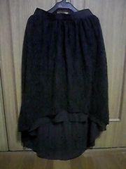 スカート/ロングスカート/フィッシュテール/黒/L