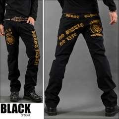プレイハンド刺繍ポケットチノパンツ黒S