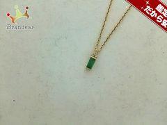 ヴァンドーム青山 ネックレス美品  K18YG×ダイヤモンド×エメラルド