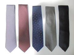 ネクタイ SILK シルク 絹 100% 各種 5本セット ほぼ未使用品