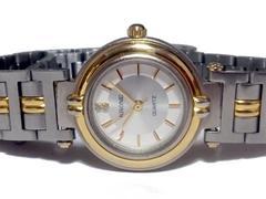 美品 1スタ★KRONE【ジルコニア】美しい腕時計