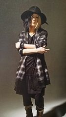 HISASHI着ROENロエン ETHNIC ROCK CHECK COAT L