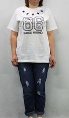 1008-412066大きいサイズ☆ハローキティコラボTシャツ☆LL/ホワイト
