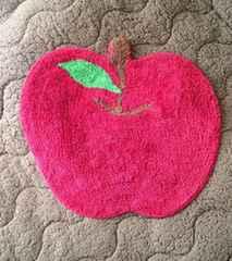 インド綿 りんご トイレ 玄関 キッチン マット