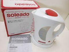 7323★1スタ★Soleado/ソレアード 電気湯沸かしケトル 1.0L