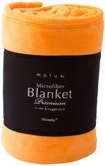 毛布 プレミアムマイクロファイバー シングル オレンジ