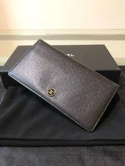 1円 ◆正規品◆ 極美品 シャネル レザー 長財布 ブラック
